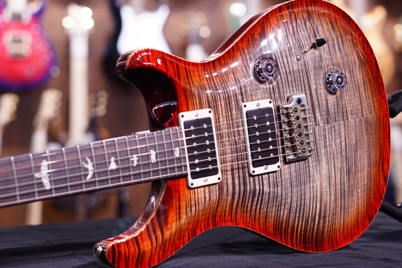 PRS Custom 24 Hiendspec 10top charcoal cherry flame neck 240759