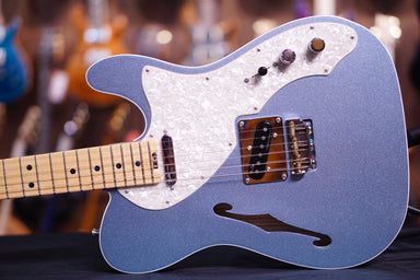 Fender American Elite Telecaster Thinline - Mystic Ice Blue with Maple Fingerboard - HIENDGUITAR.COM