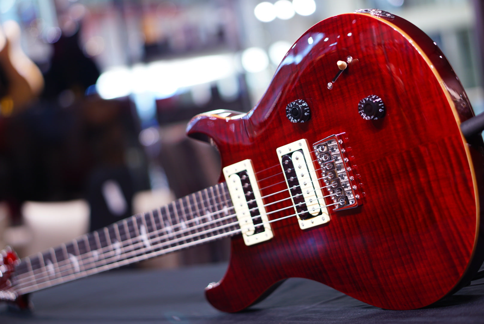PRS SE SVN 7 String in Black Cherry - HIENDGUITAR   PRS SE GUITAR