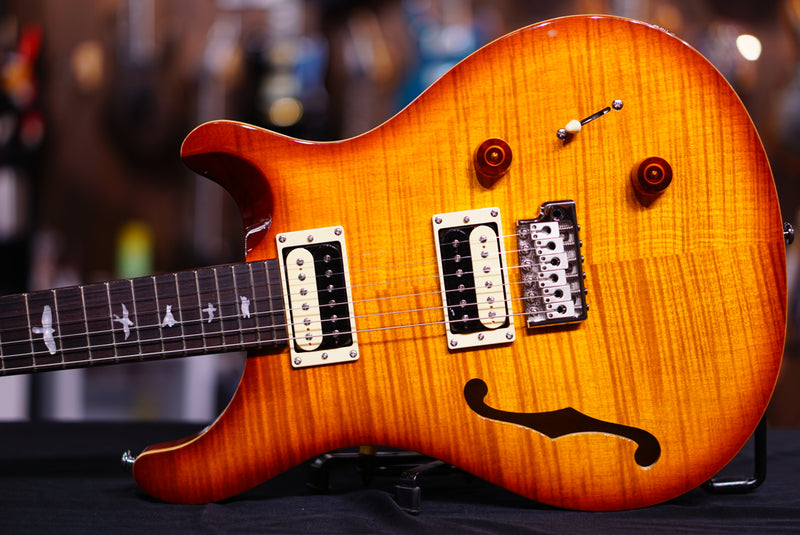 PRS SE Custom 22 Semi-hollow - Vintage Sunburst, Tremolo Bridge