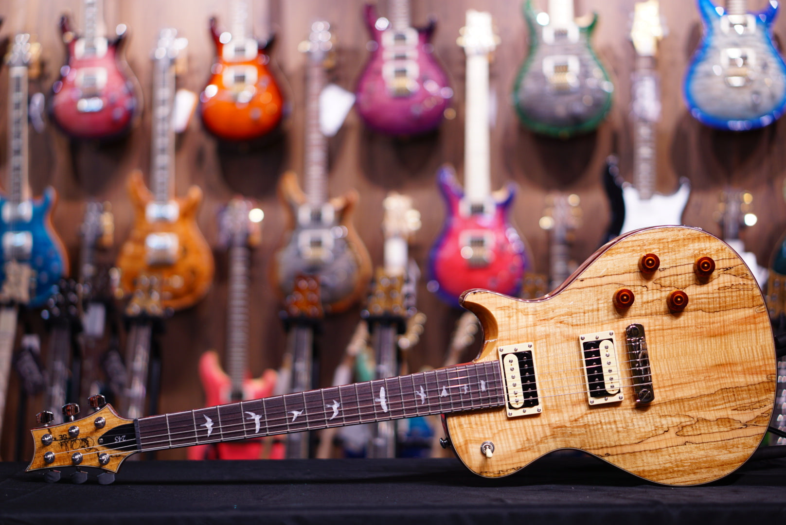 PRS SE Exotic spalted maple 245 - HIENDGUITAR   PRS SE GUITAR