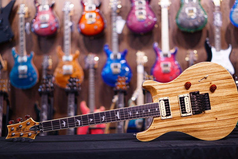 PRS SE Exotic zebra wood Custom 24 floyd