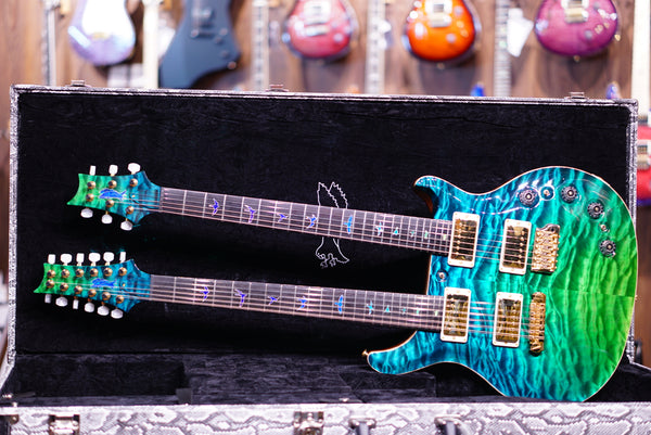 PRS Privatestock Doubleneck Laguna dragons breathe