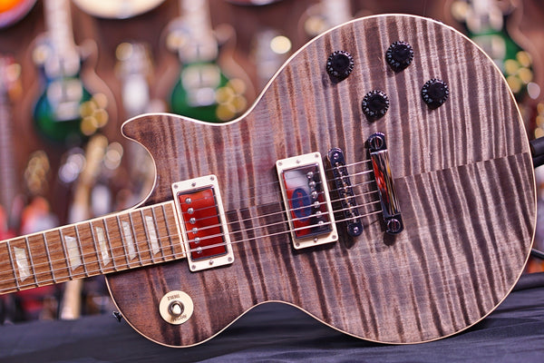 Gibson Les Paul Standard Grey Black 5A Flame