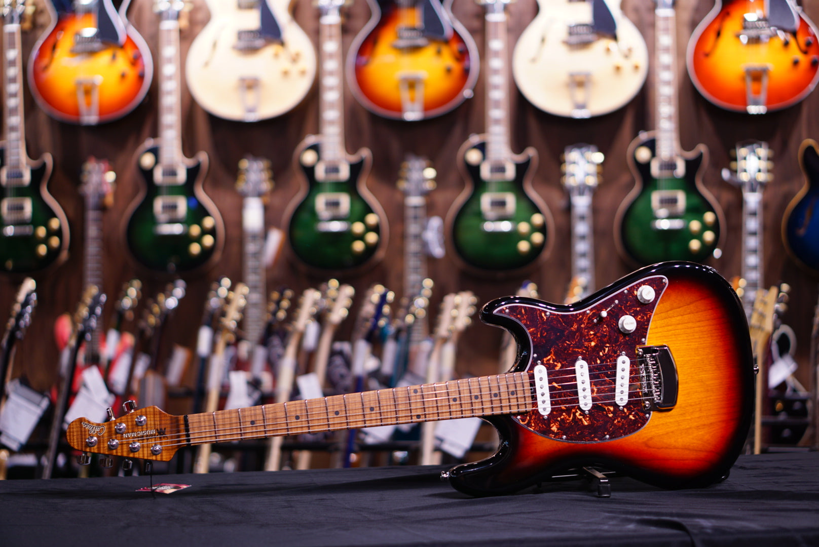 Music Man Cutlass Rs - Vintage Sunburst  Roasted Mapleg88369 - HIENDGUITAR   HIENDGUITAR.COM GUITAR