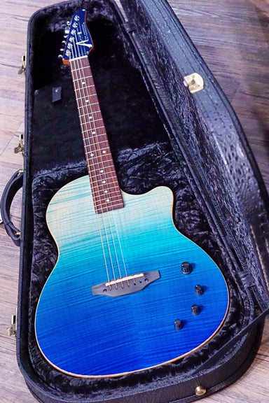 Tom Anderson Crowdster Bora Blue Surf with Binding 09-21-20N - HIENDGUITAR   Anderson GUITAR