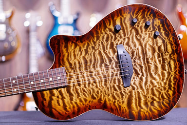 Tom Anderson Crowdster Natural Mocha Burst with Binding 10-06-20N - HIENDGUITAR   Anderson GUITAR