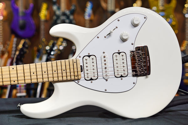 Ernie Ball Music Man Silhouette HSH Trem - White, Maple Fingerboard