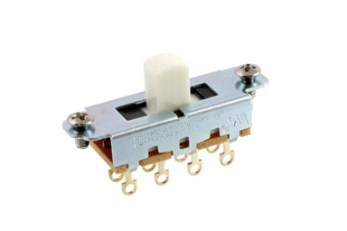 EP-0261 Switchcraft® On-Off-On Slide Switch for Mustang® SWITCHCRAFT INC. White knob - HIENDGUITAR.COM