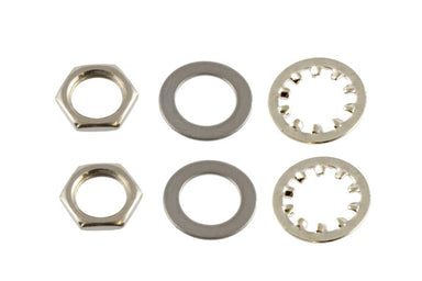 EP-4970 Nuts and Washers for US Pots and Jacks APEX JR. No finish - HIENDGUITAR.COM