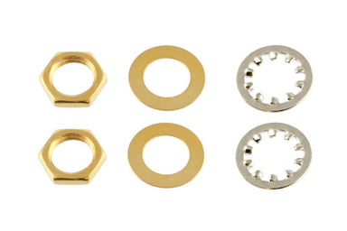 EP-4970 Nuts and Washers for US Pots and Jacks APEX JR. Gold - HIENDGUITAR.COM