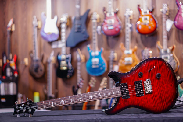 PRS SE Custom 24 in fire red burst 2018