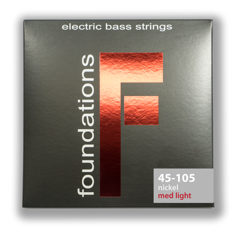 FN45105L MEDIUM-LIGHT FOUNDATIONS NICKEL BASS SIT STRING SIT - HIENDGUITAR.COM