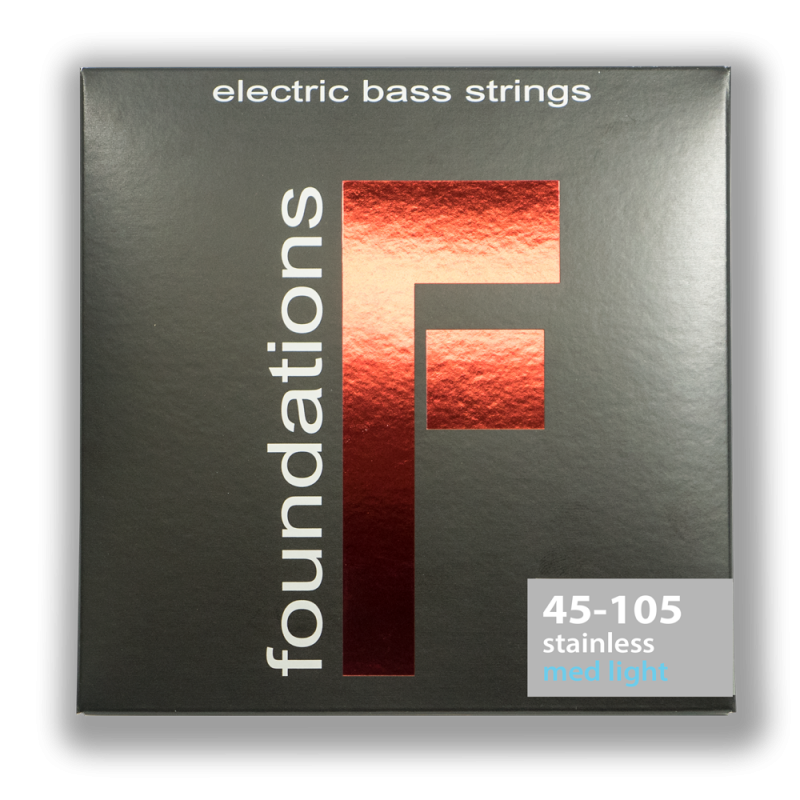 FS45105L MEDIUM-LIGHT FOUNDATIONS STAINLESS STEEL BASS SIT STRING SIT - HIENDGUITAR.COM