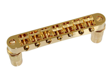GB-2577 7-String Tunematic Bridge QINGDAO SAMBONG MUSICAL INSTRUMENTS Gold - HIENDGUITAR.COM