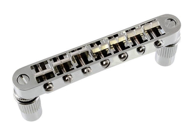 GB-2577 7-String Tunematic Bridge QINGDAO SAMBONG MUSICAL INSTRUMENTS Chrome - HIENDGUITAR.COM