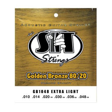 GB1048 EXTRA LIGHT GOLDEN BRONZE 80/20 ACOUSTIC      SIT STRING - HIENDGUITAR   SIT string