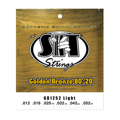 GB1252 LIGHT GOLDEN BRONZE 80/20 ACOUSTIC      SIT STRING - HIENDGUITAR   SIT string