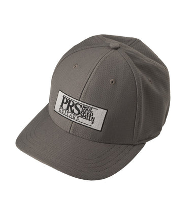 PRS Block Logo Fitted Baseball Hat, Gray ACC-123094-SMD - HIENDGUITAR.COM