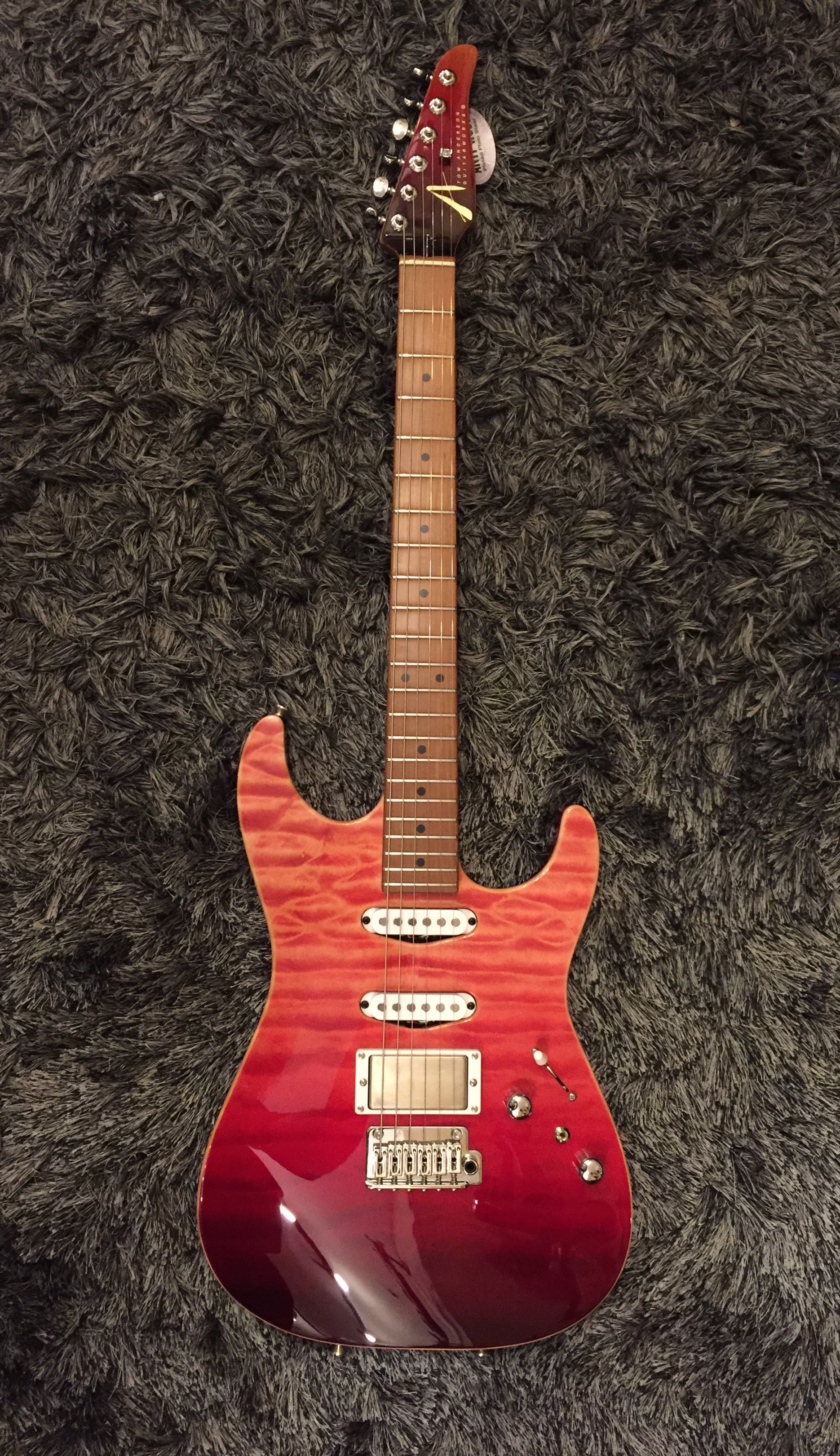 Anderson Drop Top Red Surf HIENDGUITAR.COM - HIENDGUITAR.COM