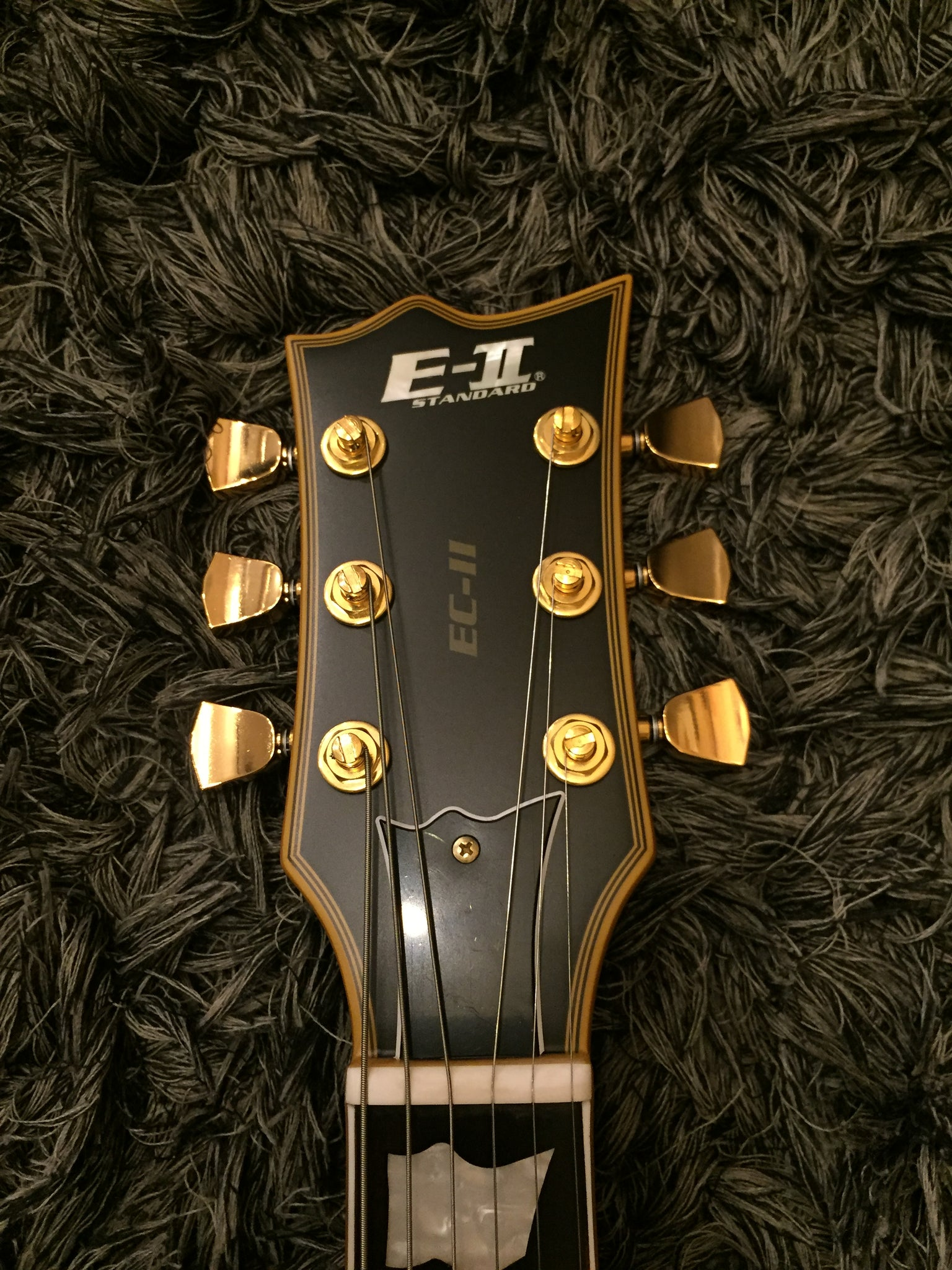 ESP Eclipse satin black gold hardware ES1315404