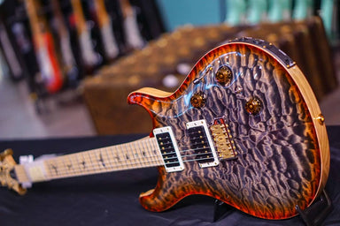 PRS Custom 24 piezo Hiend spec Burnt maple leaf PRS - HIENDGUITAR.COM