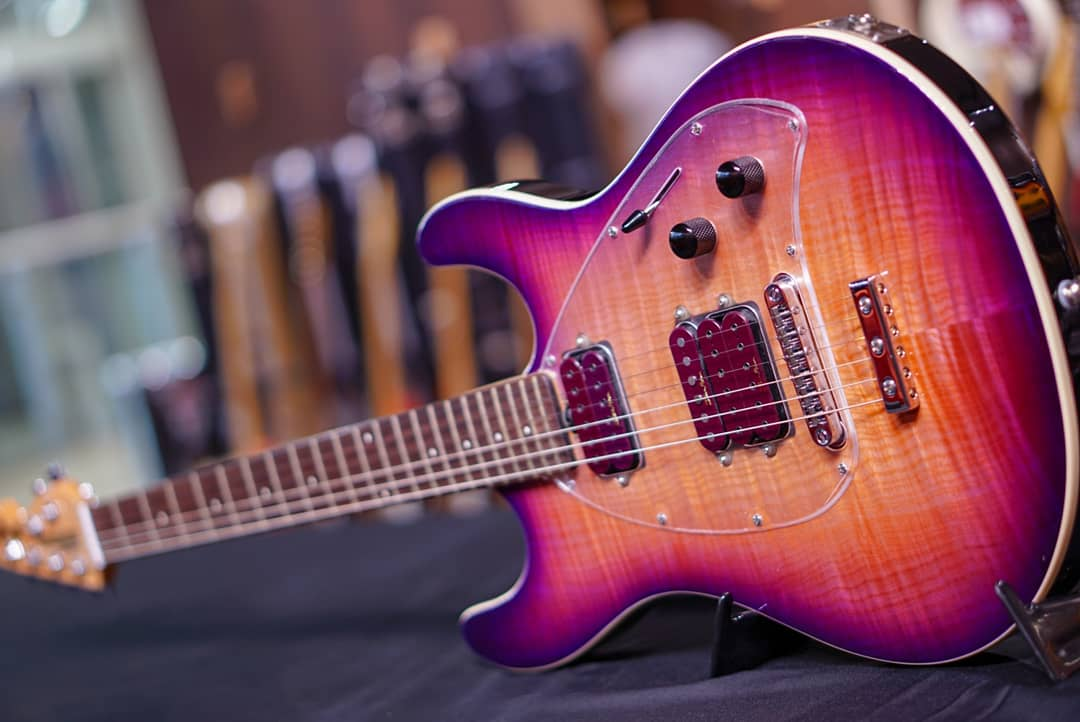 Music Man Steve Morse Y2D Guitar With Standard Bridge Purple Sunset HIENDGUITAR.COM - HIENDGUITAR.COM