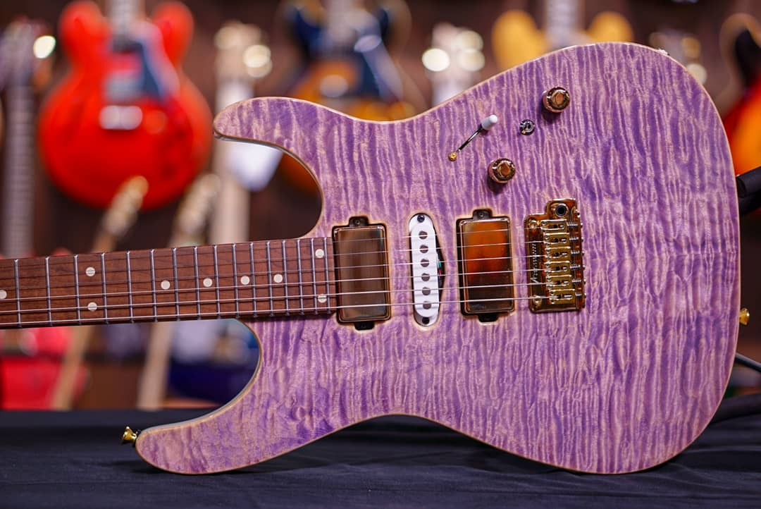 Anderson angel in natural purple G180658 HIENDGUITAR.COM - HIENDGUITAR.COM