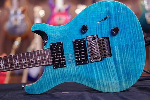 PRS SE Custom 24-Floyd Rose (NEW COLORS!!) Sapphire