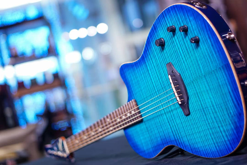 Anderson crowdster bora to transparent blue burst