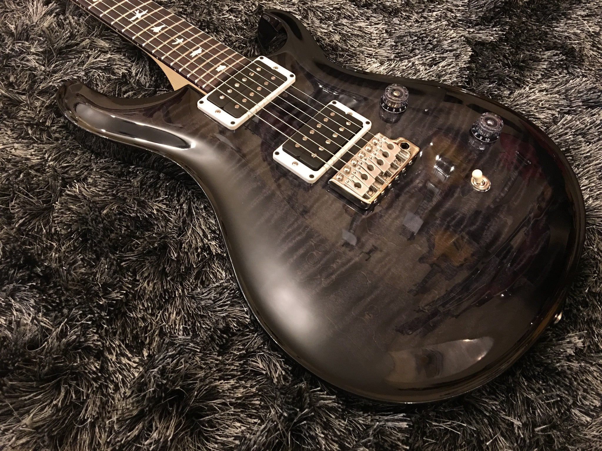 PRS CE24 Charcoal Custom color2 - HIENDGUITAR   PRS GUITAR