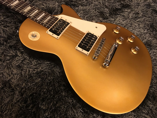 Gibson 2016 Les Paul '50s Tribute T Electric Guitar (with Gig Bag), Gold Top