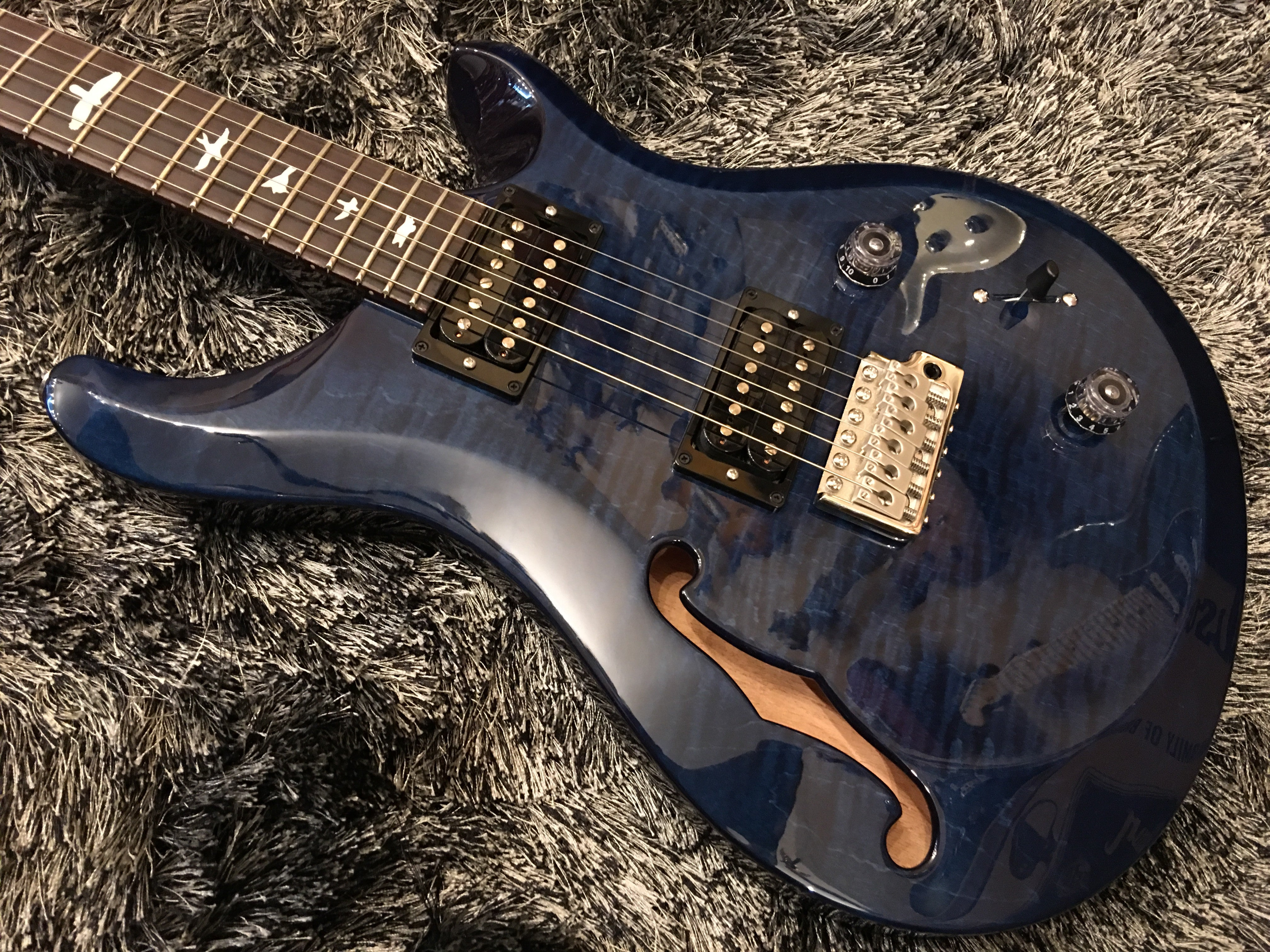 PRS S2 Custom 22 Semi-hollow - whale blue 2023926 PRS - HIENDGUITAR.COM