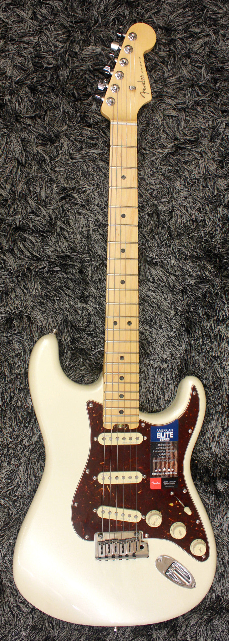 Fender American Elite Stratocaster Maple Fingerboard, Olympic Pearl 0114000723