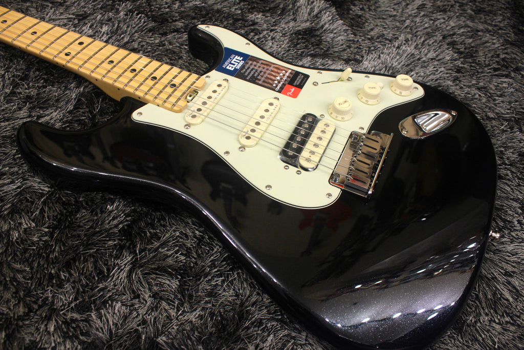 Fender American Elite Stratocaster HSS Shawbucker - Mystic Black with Maple Fingerboard
