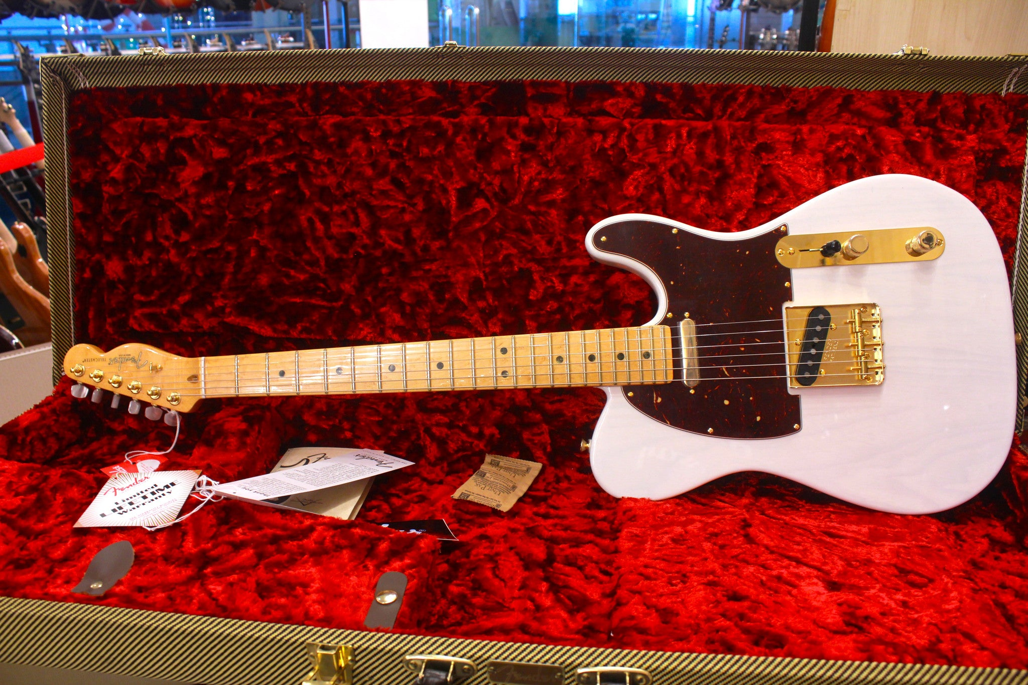 Fender 2016 Limited Edition Select Light Ash Telecaster - White Blonde HIENDGUITAR.COM - HIENDGUITAR.COM