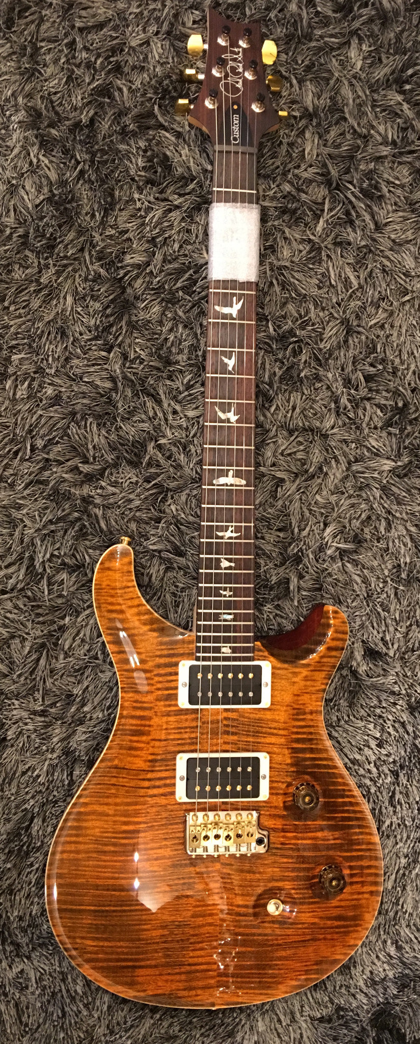 CUSTOM 24 10 TOP, THIN FLAME MAPLE NECK, HYBRID HDW,ORANGE TIGER