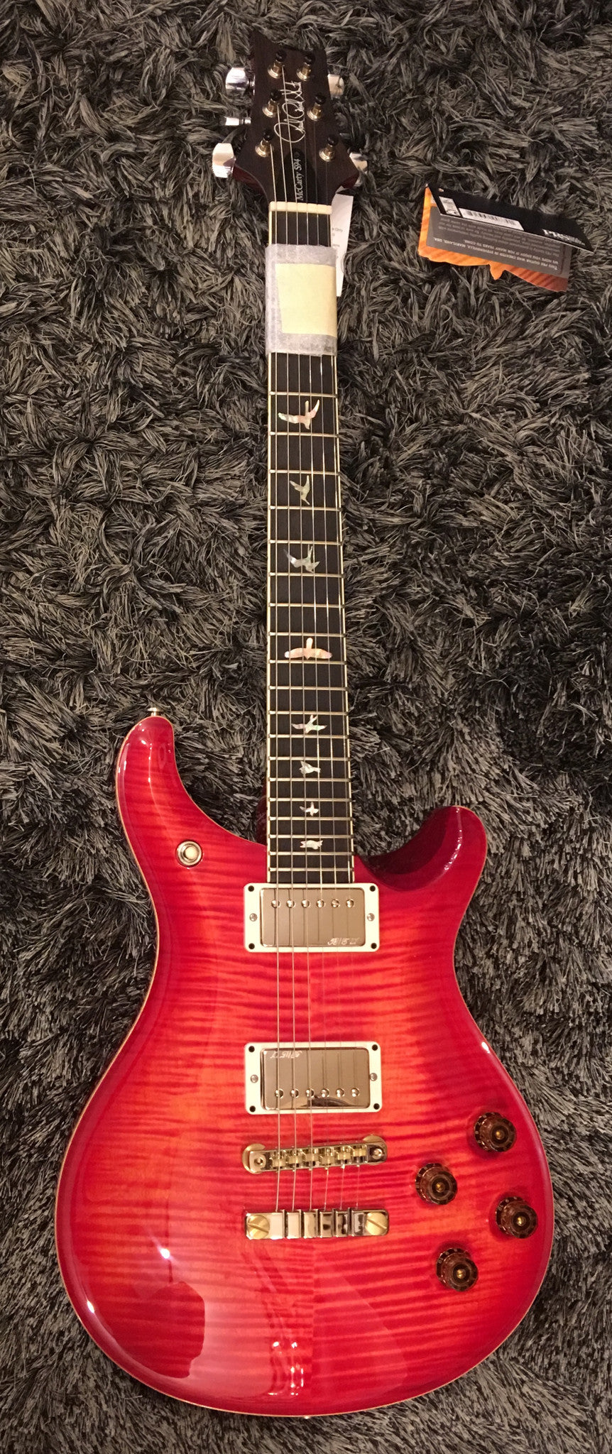 PRS McCarty 594 blood orange 10top HIENDGUITAR.COM - HIENDGUITAR.COM
