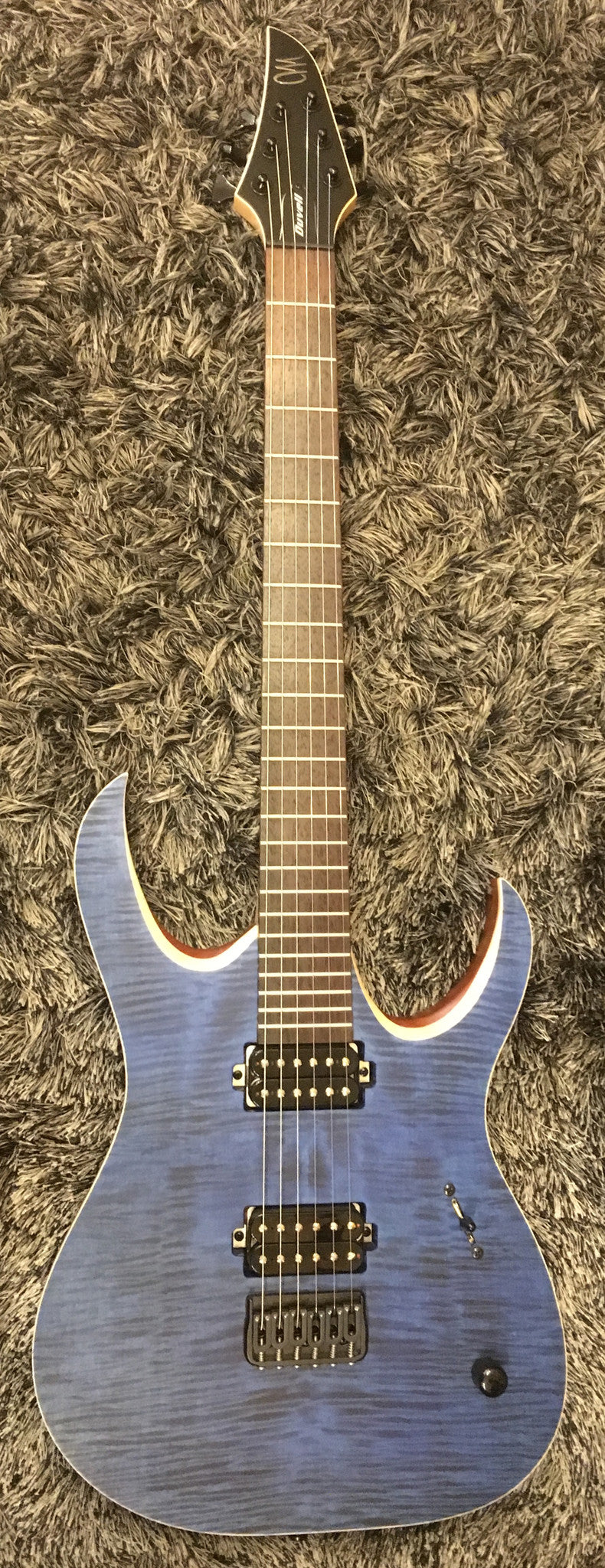 Mayones Duvell 6 Standard Transparent Dirty Blue upgraded Bareknuckle Juggernaut HIENDGUITAR.COM - HIENDGUITAR.COM