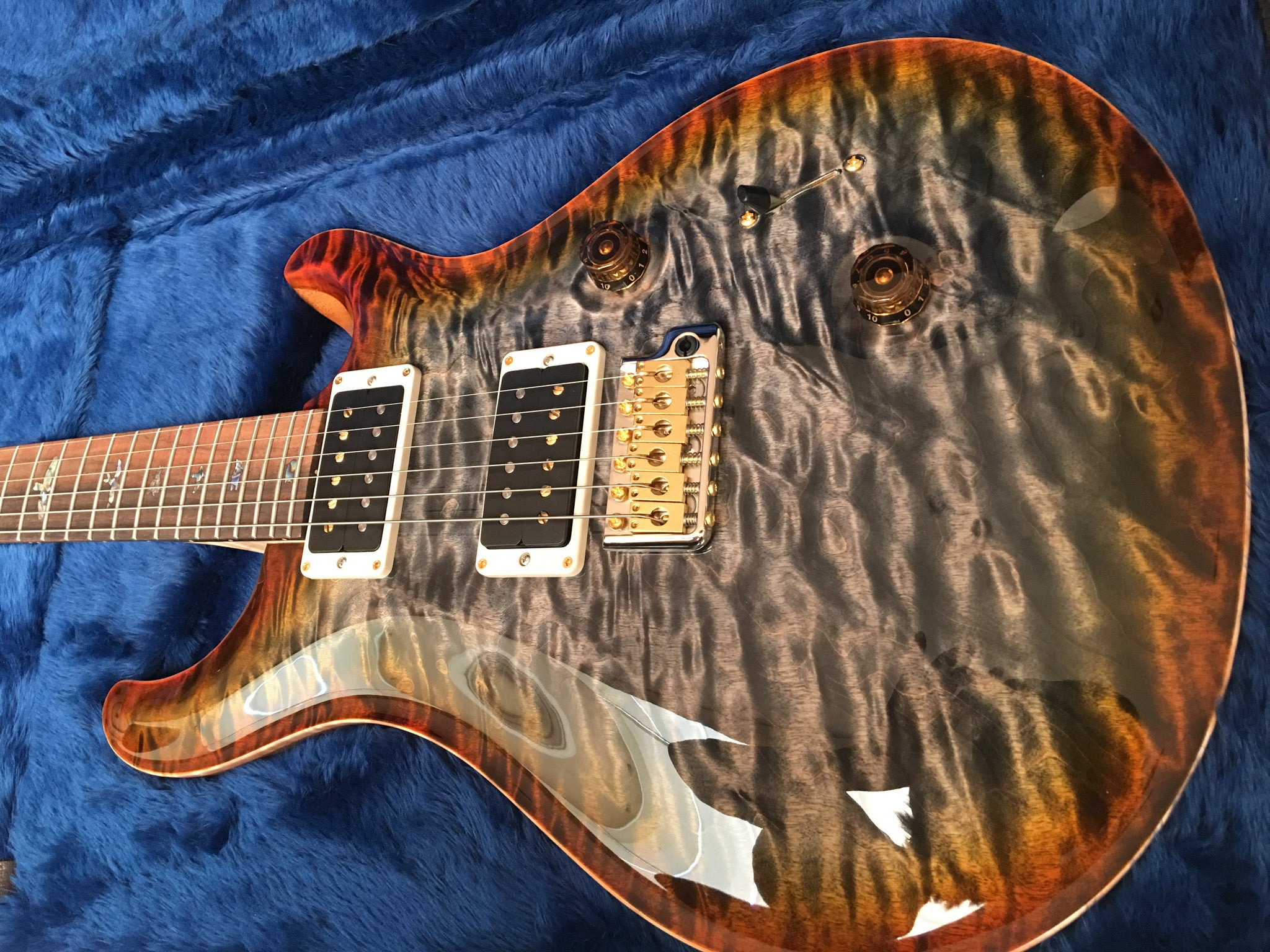 PRS Custom 24 Hiend spec# 1 Burnt maple leaf PRS - HIENDGUITAR.COM