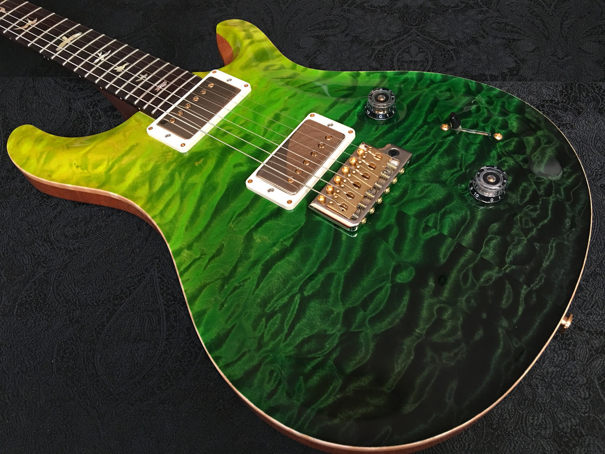 PRS Custom 22 Hiend spec# 2 Rosewood neck Green Fade