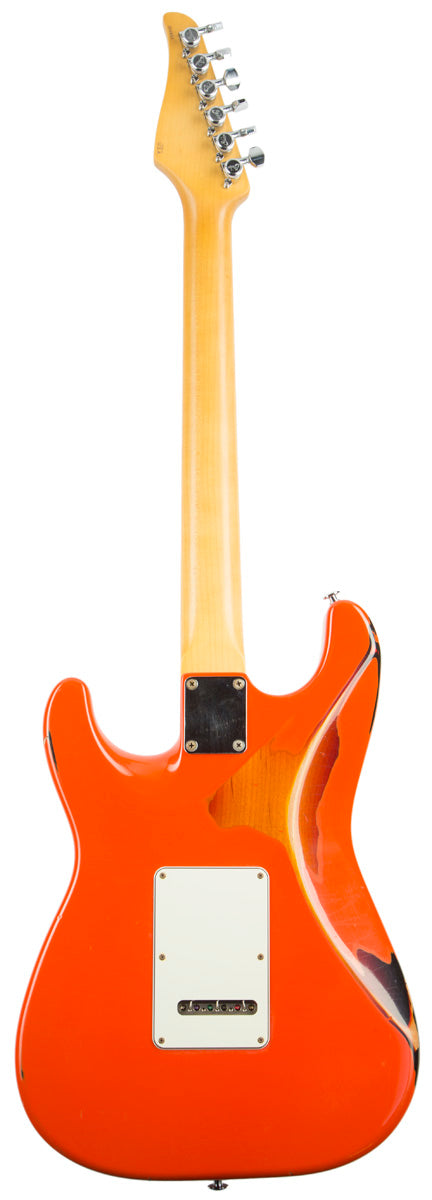 SUHR CLASSIC ANTIQUE FINISH OVER FINISH FIESTA ORANGE SUHR - HIENDGUITAR.COM