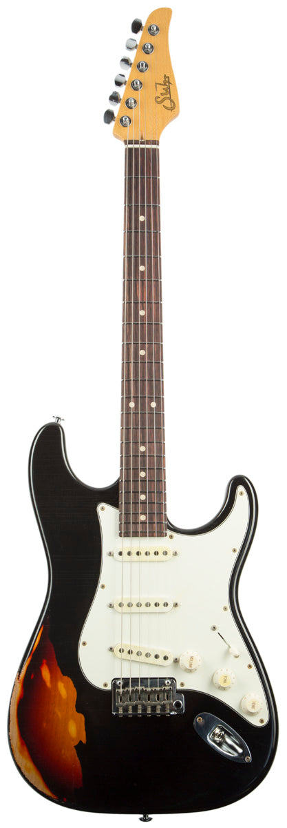 SUHR CLASSIC ANTIQUE FINISH OVER FINISH BLACK SUHR - HIENDGUITAR.COM