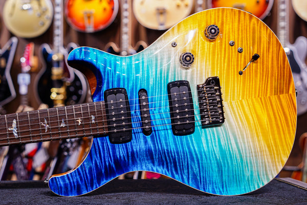 PRS Private stock modern eagle V reversed beach cross fade
