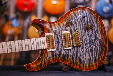 PRS Custom 24 Piezo Quilt Hiend spec burnt maple leaf gold hardware PRS - HIENDGUITAR.COM