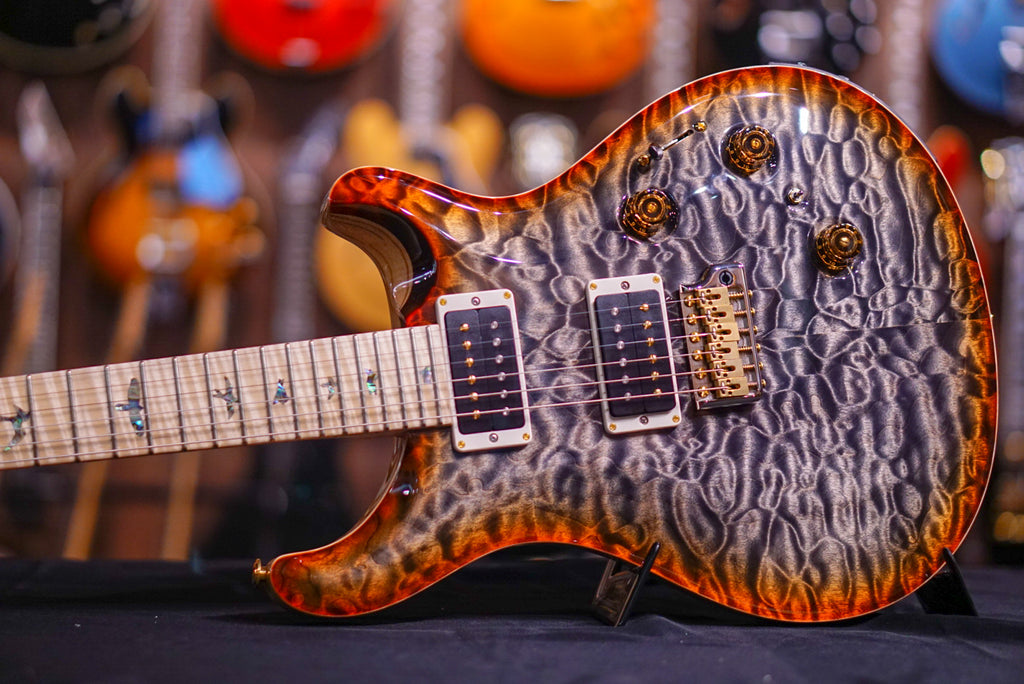 PRS Custom 24 piezo Hiend spec Burnt maple leaf