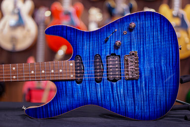 Anderson Angel Jack's Pacific Blue Burst with Binding G180367 anderson - HIENDGUITAR.COM