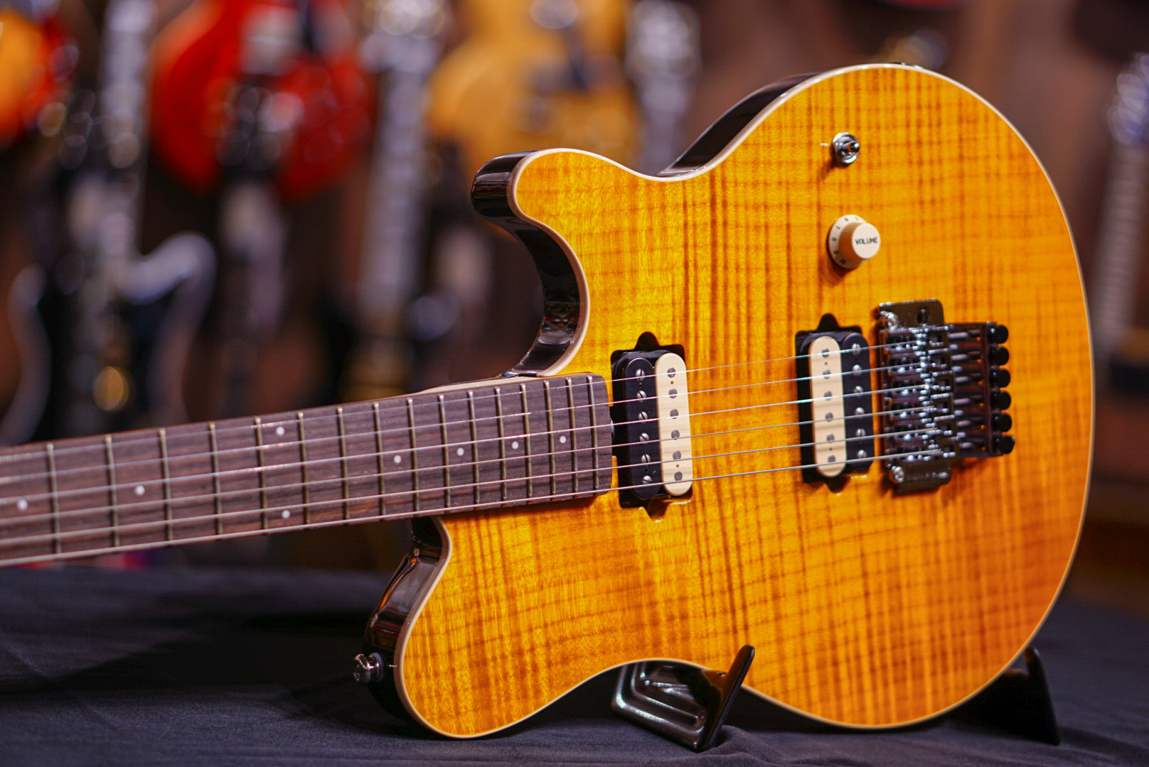 music man axis trans gold rosewood match head G84591 Musicman - HIENDGUITAR.COM