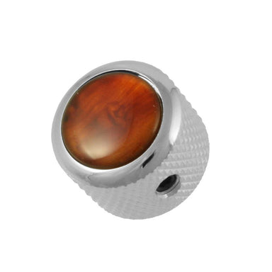 MK-3171 Q-Parts Tortoise Dome Knob Q-PARTS, INC. Chrome - HIENDGUITAR.COM