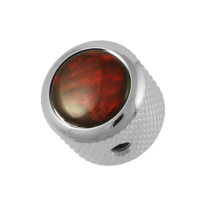 Gold Q-Parts Red Pearl Dome Knob